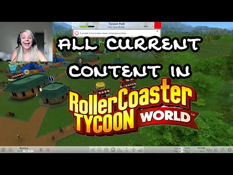 All Current Content in Rollercoaster Tycoon World || EARLY ACCESS |
