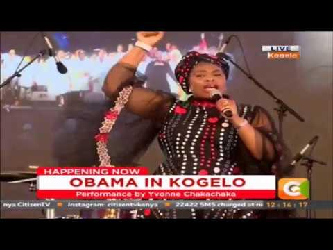 Yvonne Chakachaka performs at Sauti kuu foundation launch