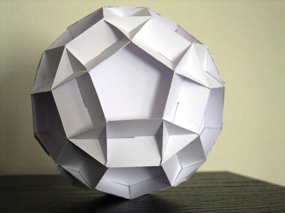 sliceform - papercraft - decagons (George Hart) - tutorial