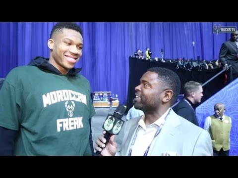 Giannis Shows Support to Fellow Freak