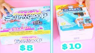 $5 Mermaid Slime Kit Vs $10 Elmer