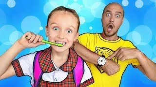 Put On Your Shoes Song | Nastya Pretend Play Morning Routine Brush Teeth | Canciones infantiles
