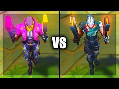Demacia Vice Lucian vs PROJECT Lucian Epic Skins Comparison (League of Legends)