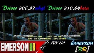 #116 Far Cry 3 - Comparação Driver 306.97wqhl vs 310.64beta All Maximum Settings