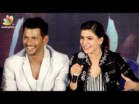 Is Vishal better than Suriya & Vijay? : Samantha Funny Reply | Irumbu Thirai Teaser Launch