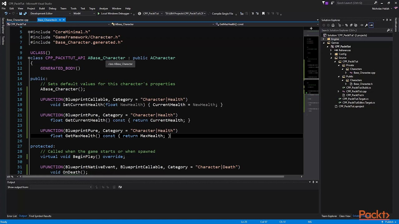 Learning C++ by Creating Games with Unreal Engine 4: Creating the Player  Character's| packtpub com