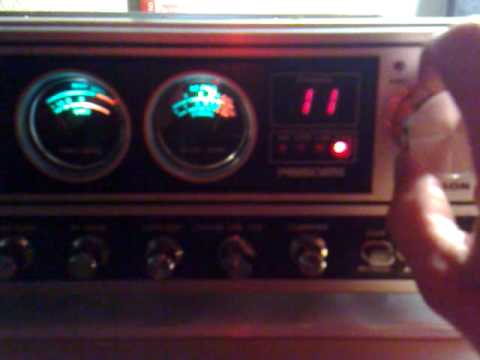 Repaired & refreshed old homebase President Madison CB Radio - short receiver test