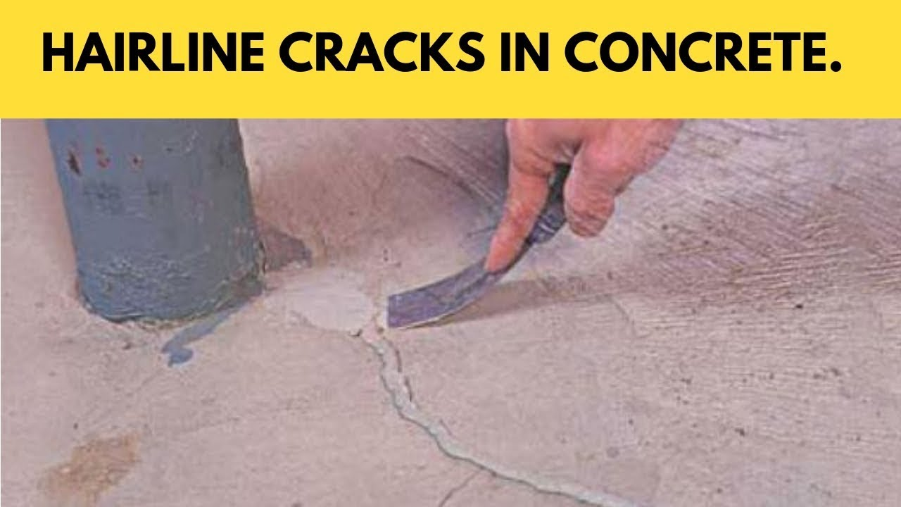 Hairline Cracks In Concrete Its Causes And Prevention Youtube