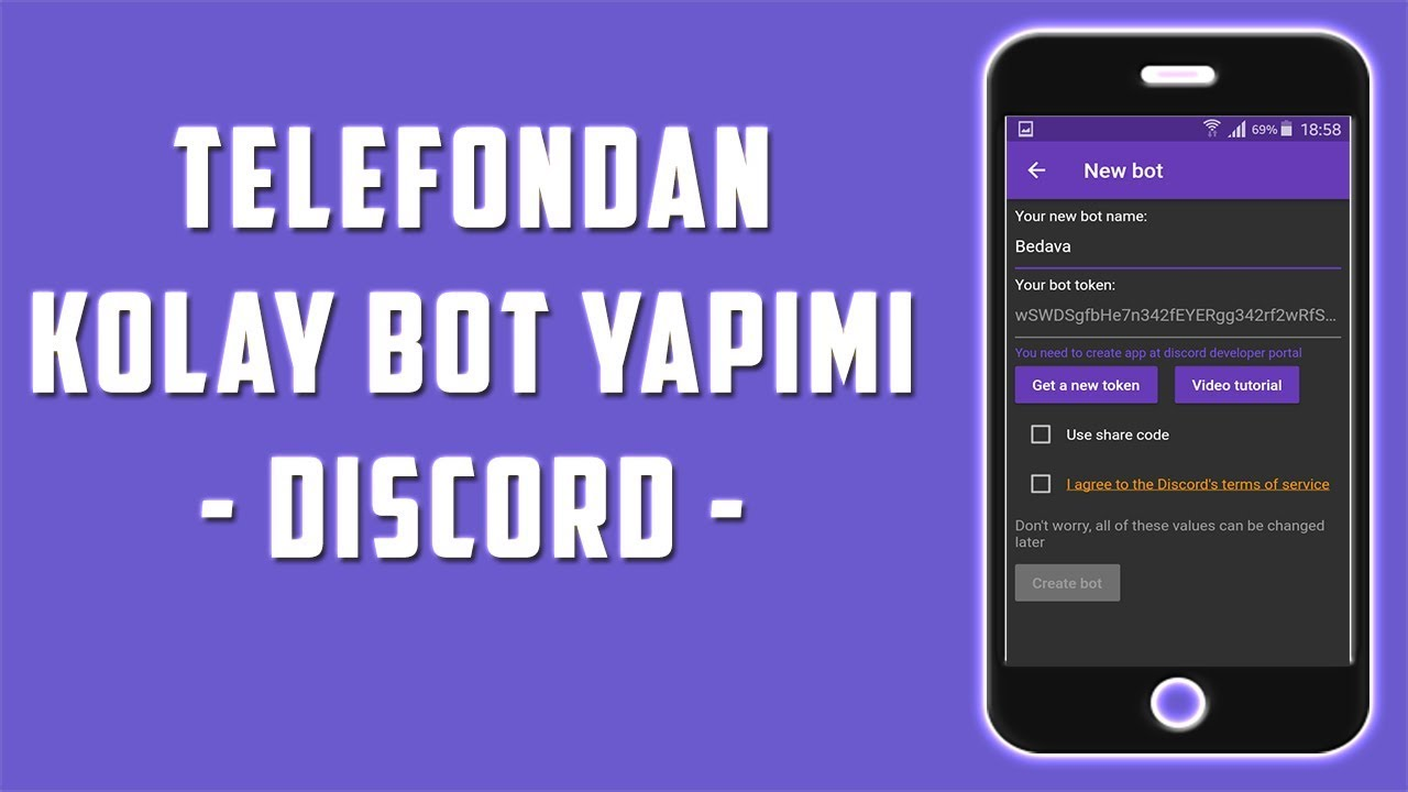 TELEFONDAN DİSCORD BOTU YAPMAK - Detaylı Anlatım!
