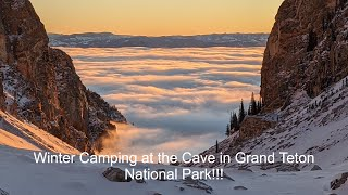 Winter Camping and Skİing In Grand Teton National Park, Jackson Hole Wyoming