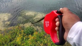 Retractable Dog Leash Catches FISH! DIY