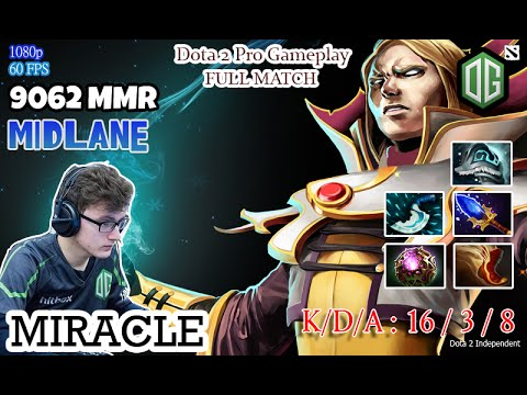 dota 2 pro gameplay og miracle play as invoker professional