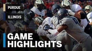 Highlights: Purdue Boilermakers vs. Illinois Fighting Illini | Big Ten Football