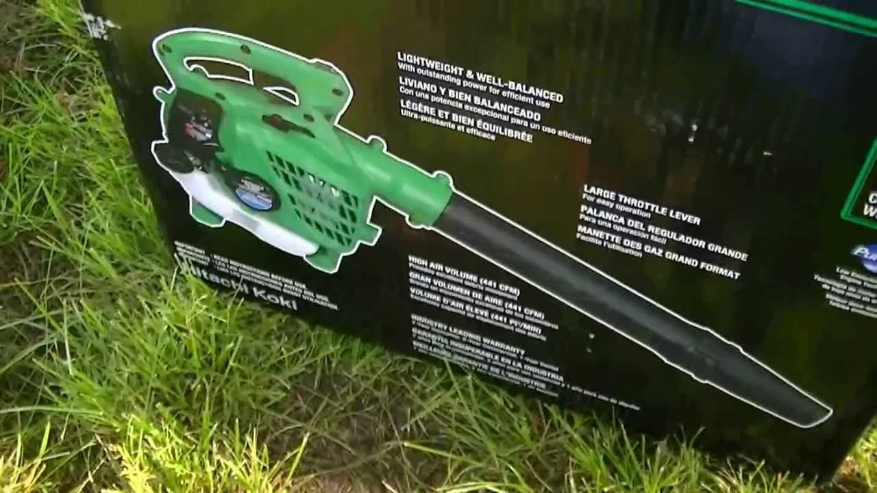 hitachi 23 9cc 2 cycle gas powered handheld leaf blower. hitachi leaf blower start-up and overview - first impressions one pull start! youtube 23 9cc 2 cycle gas powered handheld