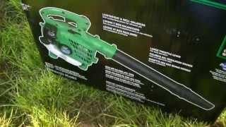 Hitachi Leaf Blower Start-Up and Overview - First Impressions - One Pull Start!