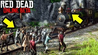IMPOSSIBLE TRAIN HEIST in Red Dead Online! RDR2 Online Funny Moments