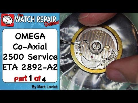 Part 1 Service an Omega Co Axial 2500 ETA 2892 A2 watch repair tutorials