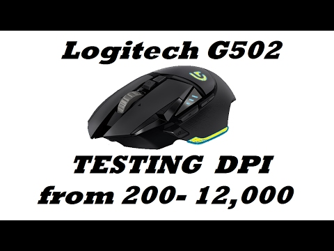 6322c494a2a Logitech G502 Testing DPI on Overwatch from 200 to 12K - YouTube