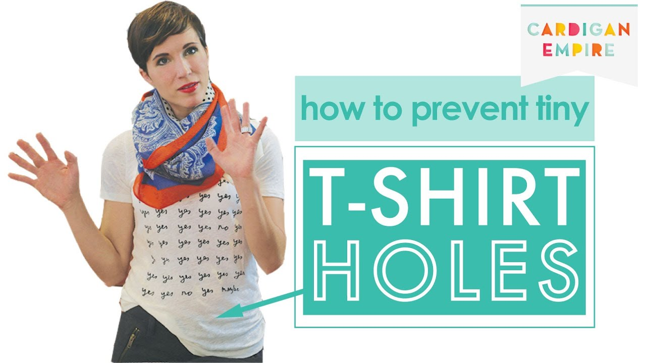How To Prevent Tiny T Shirt Holes Youtube