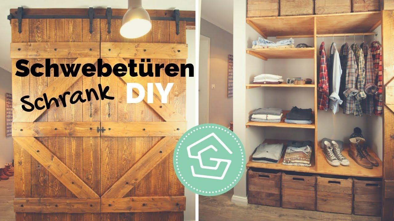 Gut gemocht Brettertür DIY - Schrank selber bauen - Tür einbauen - Schiebetür SI51