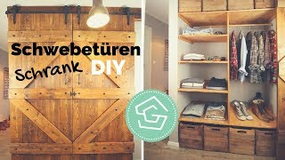 Brettertür DIY - Schrank selber bauen - Tür einbauen - Schiebetür - Barn Door - Einbauschrank
