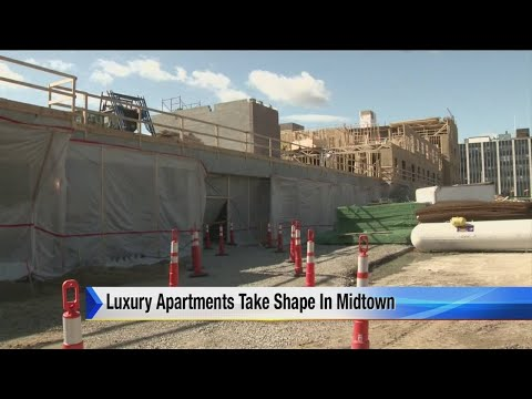 Luxury apartments take shape in Midtown Detroit