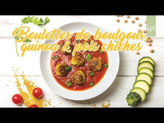 7.Boulette de boulgour, quinoa et pois chiches