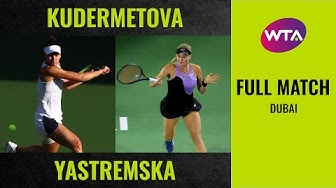 Veronika Kudermetova vs. Dayana Yastremska | Full Match | 2020 Dubai Round of 32