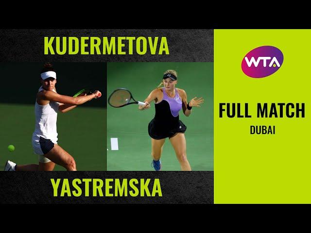 Veronika Kudermetova vs. Dayana Yastremska | Full Match | 2020 Dubai Round of 32