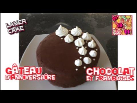 ♡-gateau-d'anniversaire-ganache-au-chocolat-facile-|-layer-cake-au-chocolat-♡