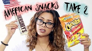 TRYING AMERICAN SNACKS PART 2 ft. JASMINE ROSE | itslinamar