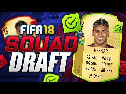 FIFA 18 SQUAD DRAFT!!! PSG NEYMAR!!!