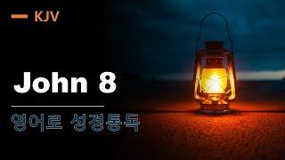 KJV 영어로  성경통독 JOHN 8 (직독직해, 구문…