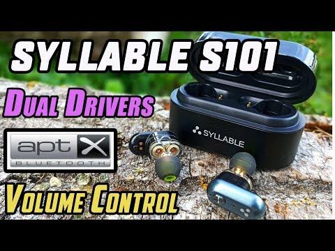 SYLLABLE S101 | Наушники с APTX, регулятором громкости и двумя драйверами!
