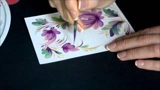 урок Петриковской росписи. простой рисунок сразу кистью