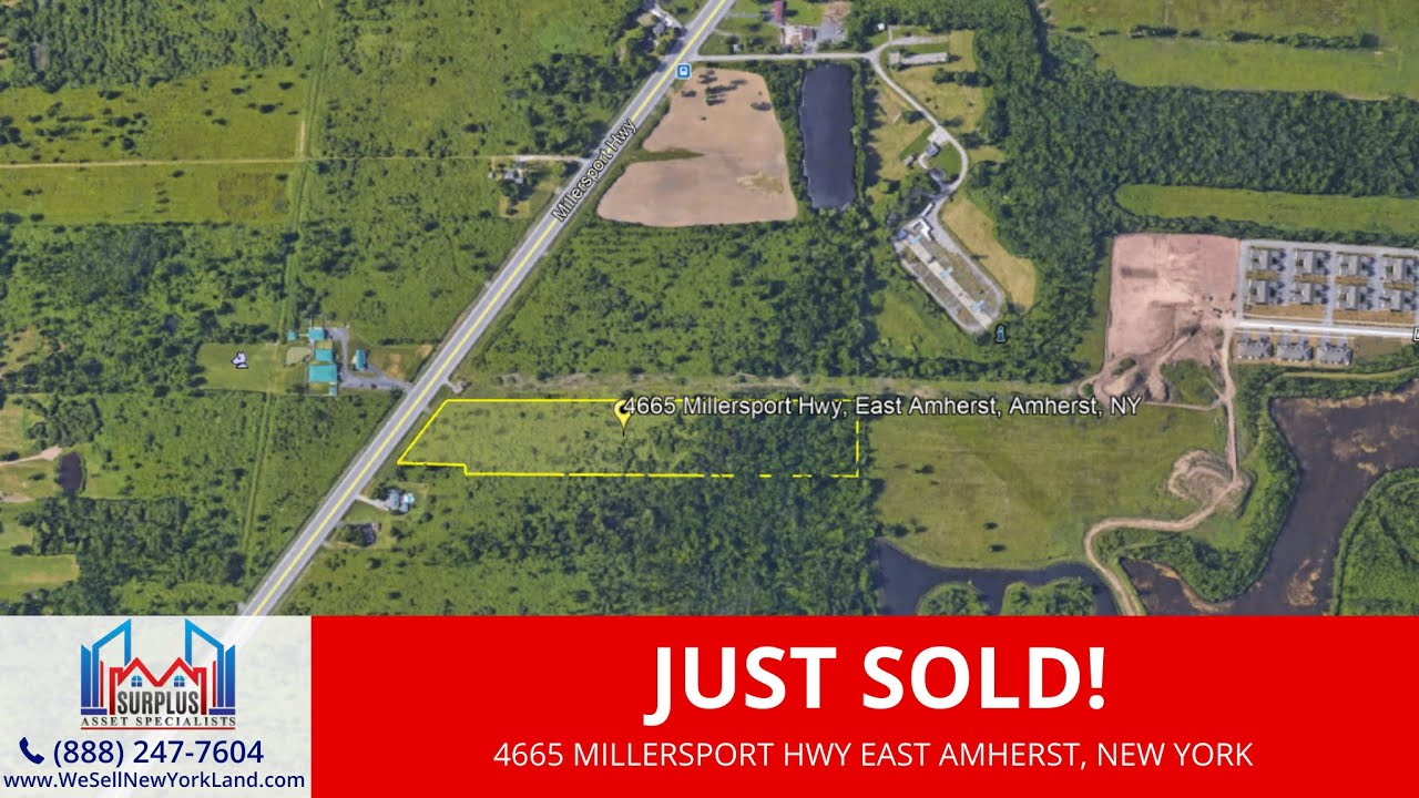 Just Sold By WeSellNewYorkLand.com - 4665 Millersport Hwy East Amherst, NY