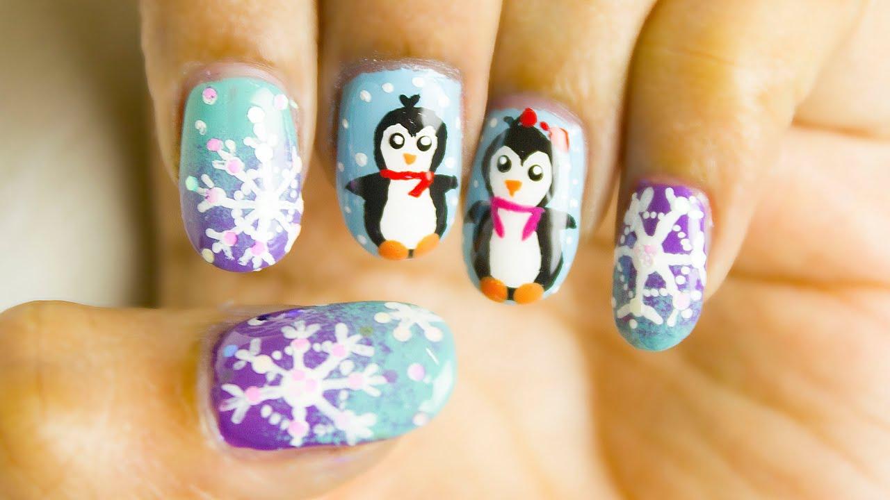 frosty nail art design winter