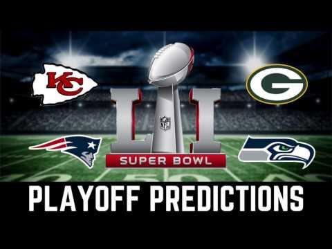 PLAYOFF PREDICTIONS 2017 NFL PLAYOFFS