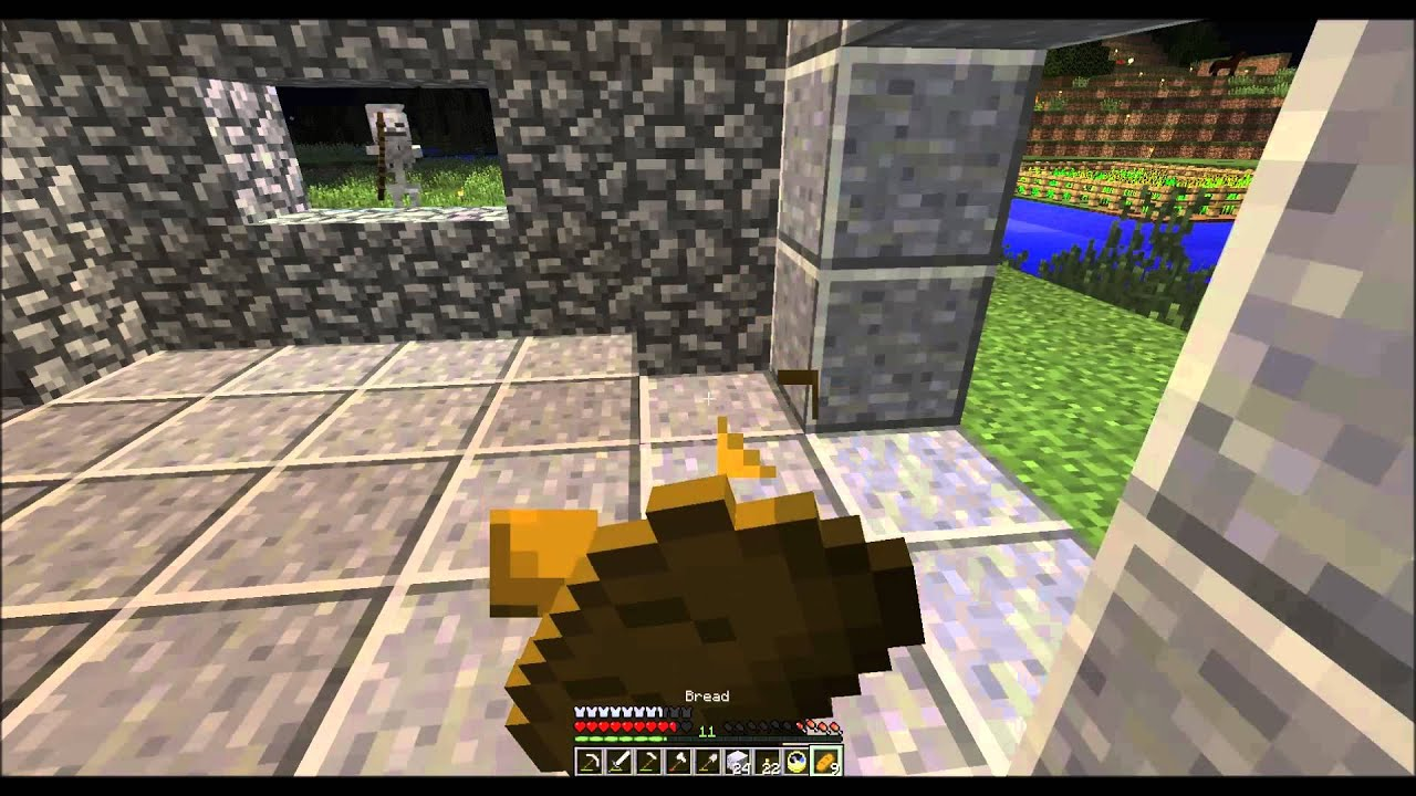 Minecraft Version 1 8 10 Building A Small Castle Using
