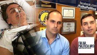 Flávio e Eduardo Bolsonaro dão atualizações sobre estado de saúde do pai após atentado e atacam..