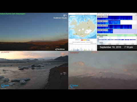 Iceland Volcano and Earthquake activity