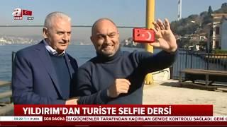 Binali Yıldırım'dan Turiste Selfie Dersi