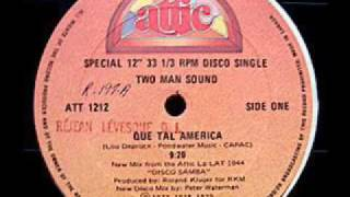 Two Man Sound Que Tal America 1979 Rare 9 20 Version