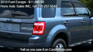 2010 Ford Escape XLS FWD - for sale in Lawrenceville, GA 300
