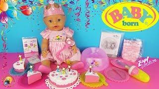 Лялька БЕБІ БОН - ВЕСЕЛИЙ ДЕНЬ НАРОДЖЕННЯ! Граємо як МАМА Розпакування та огляд малятка BABY BORN