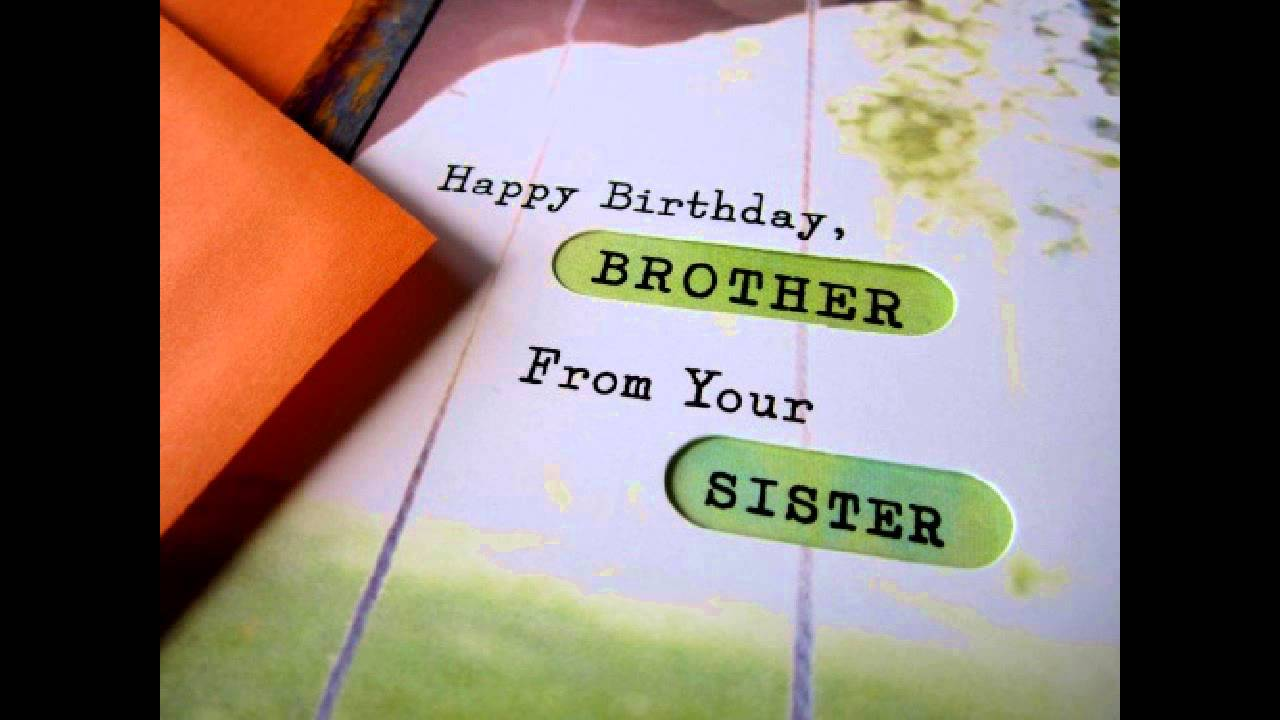 Happy Birthday Brother Wishes Youtube