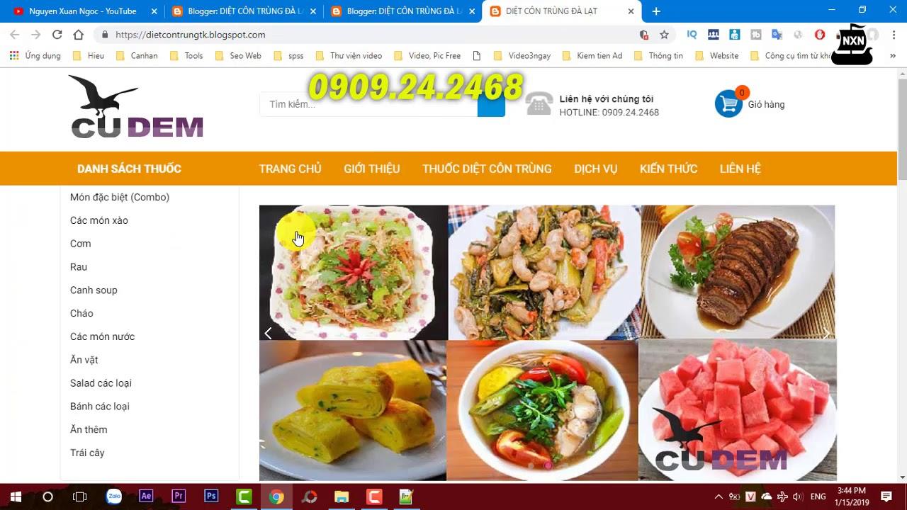 Làm web bán hàng   Cách tạo nhanh 1 website bán sản phẩm