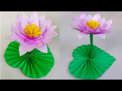 DIY Paper Water Lily | How to make Beautiful Water Lily With Paper | Paper Flower