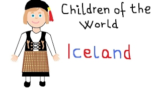 How to draw a Icelandic girl,children of the world Iceland,children songs,traditional costumes