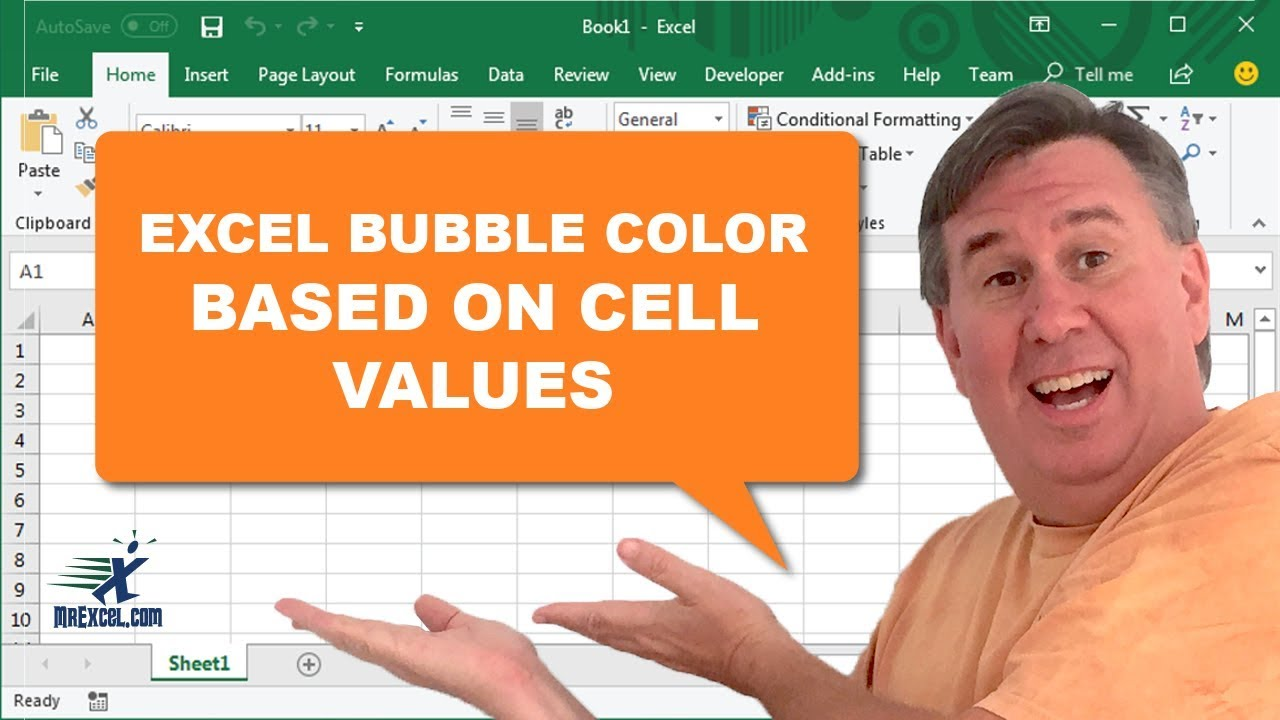 Learn excel change color of bubble chart points based on  column podcast also rh youtube